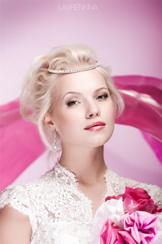 Необычный свадебный макияж фото