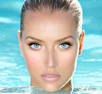 Макияж для светло голубых глаз