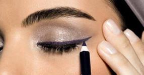 Как правильно подводить глаза карандашом