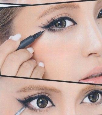 Подводка для глаз фото макияжа