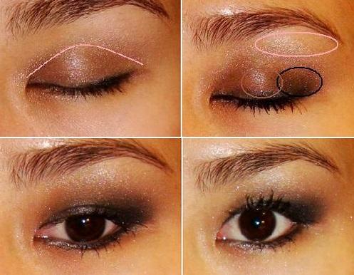макияжа в коричневых тонах