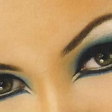 Макияж для черных глаз