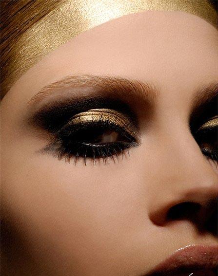 Вечерний макияж карих глаз, фото